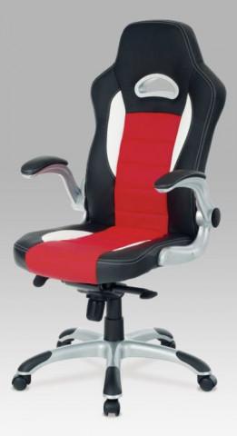 Kancelářská židle KA-E240B - RED - černá/červená