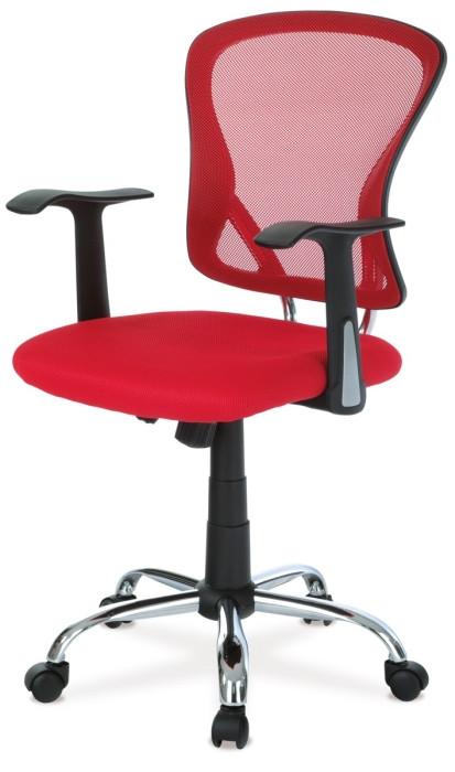Autronic Kancelářská židle KA-N806 RED - Červená