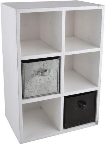Dřevěná skříňka s přihrádkami