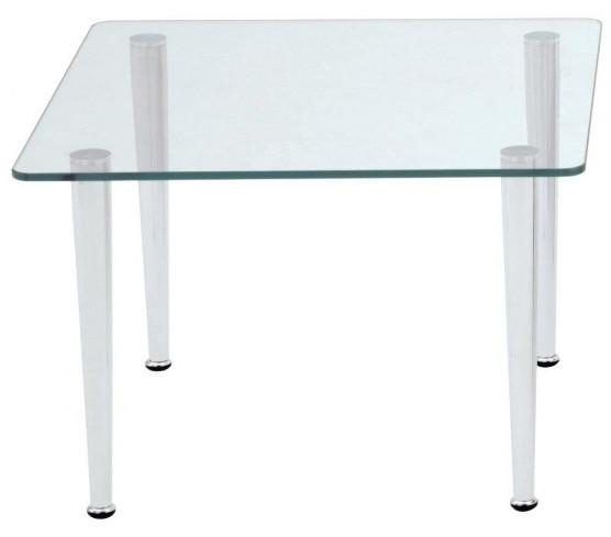 Alba Konferenční stolek Quattro - čtverec Sklo čiré