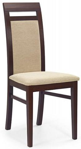 Jídelní židle Albert - Ořech tmavý/TORENT BEIGE