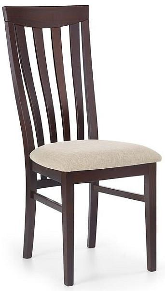 Halmar Jídelní židle Venus - dřevěná ořech tmavý/vila 2