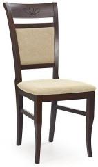Jídelní židle Jakub - ořech tmavý/TORENT BEIGE