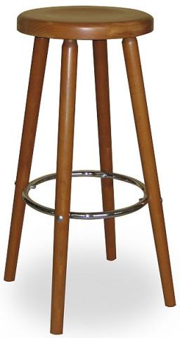 Barová dřevěná židle 371 694 Robert