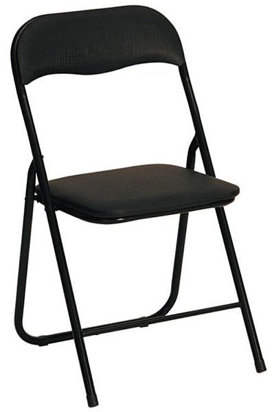 Halmar Skládací židle K5 Černá