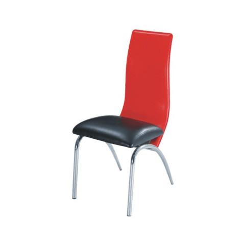 Jídelní židle DOUBLE - černá/červená