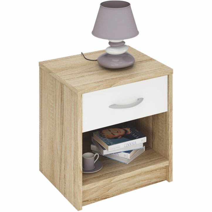 Tempo Kondela Noční stolek BISI 163755 + kupón KONDELA10 na okamžitou slevu 3% (kupón uplatníte v košíku)