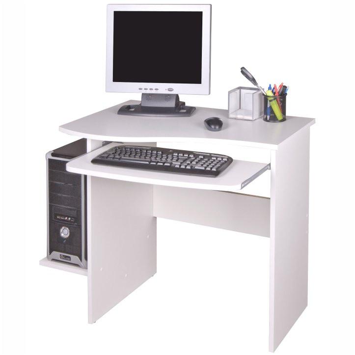 Tempo Kondela PC stolek MELICHAR - bílý + kupón KONDELA10 na okamžitou slevu 3% (kupón uplatníte v košíku)