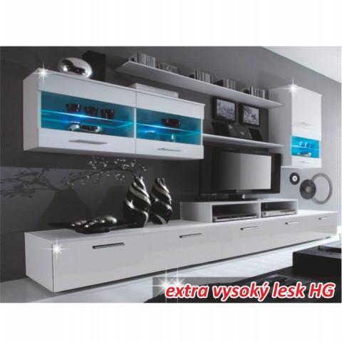Obývací stěna LEO - bílá