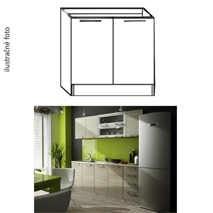 Tempo Kondela Kuchyňská skříňka IRYS DZ-80 + kupón KONDELA10 na okamžitou slevu 10% (kupón uplatníte v košíku)