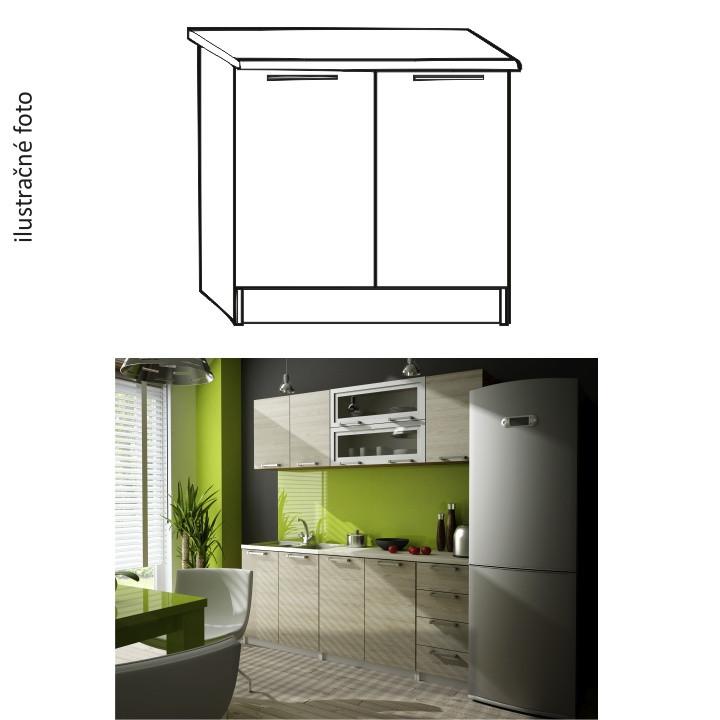 Tempo Kondela Kuchyňská skříňka IRYS D-80 + kupón KONDELA10 na okamžitou slevu 10% (kupón uplatníte v košíku)