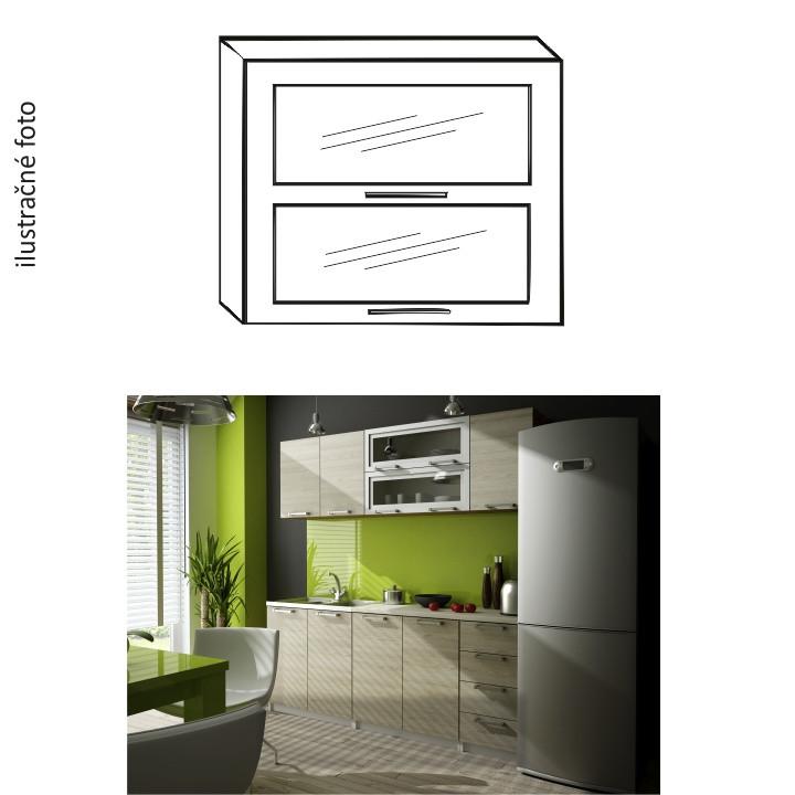 Tempo Kondela Kuchyňská skříňka IRYS G2W-80 + kupón KONDELA10 na okamžitou slevu 10% (kupón uplatníte v košíku)