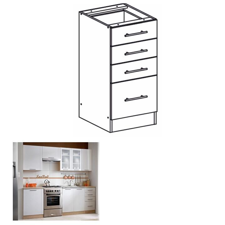Tempo Kondela Kuchyňská skříňka MONDA S40SZ4 + kupón KONDELA10 na okamžitou slevu 3% (kupón uplatníte v košíku)