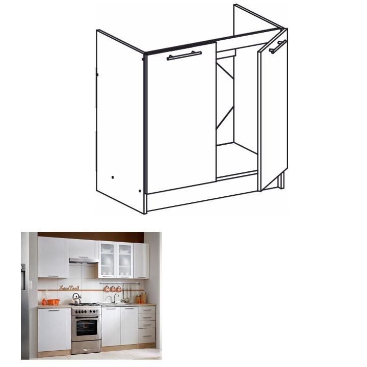 Tempo Kondela Kuchyňská skříňka MONDA S80ZL + kupón KONDELA10 na okamžitou slevu 3% (kupón uplatníte v košíku)
