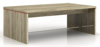 Konferenční stolek Azteca LAW/4/11 - Bílý lesk/dub canterbury