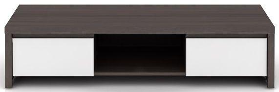 Televizní stolek Kaspian RTV2S - Wenge/bílý lesk