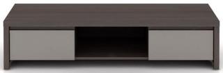 Televizní stolek Kaspian RTV2S - Wenge/šedý vysoký lesk