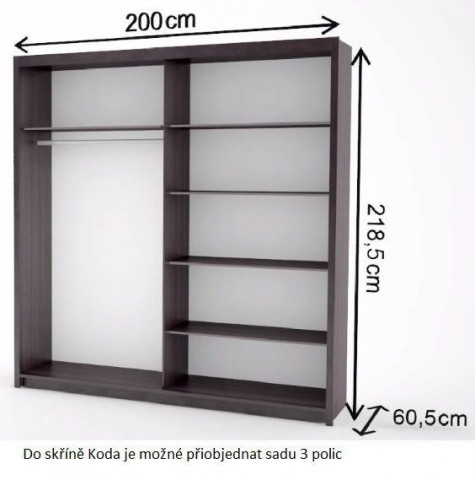 Šatní skříň Koda SZF/200