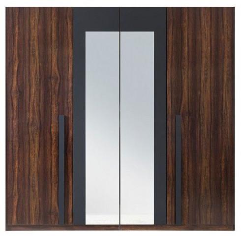 Šatní skříň F29 SZF4D - Alhambra/černá
