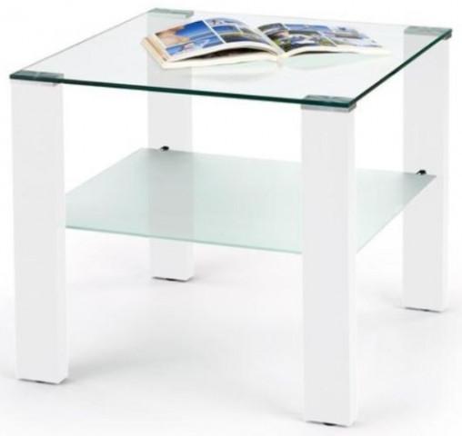 Konferenční stolek Simple H kwadrat - Bílý lak