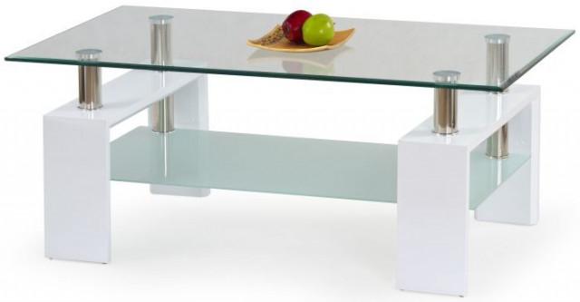 Konferenční stolek Diana - Bílý lak