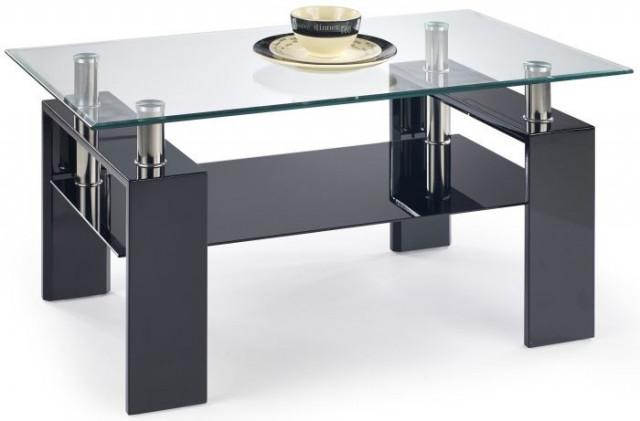 Konferenční stolek Diana H - Černý lak