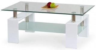 Konferenční stolek Diana H - Bílý lak