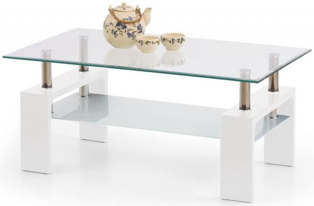 Konferenční stolek Diana Intro - Bílý lak