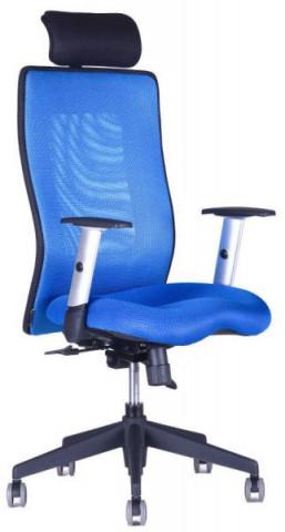 Kancelářská židle Calypso Grand s podhlavníkem - jednobarevná