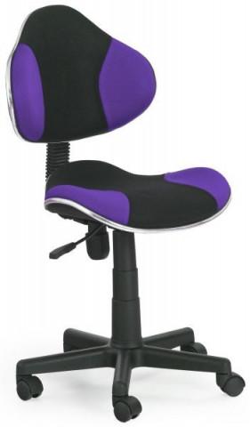 Dětská židle Flash - fialovo-černá