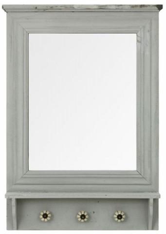 Zrcadlo dřevěné s háčky XT020B