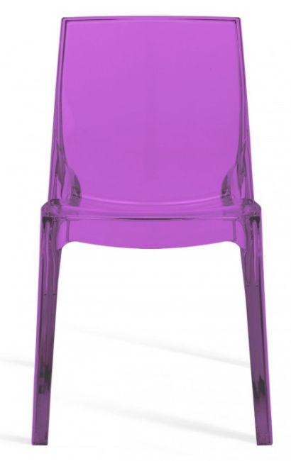 MIKO Plastová židle Femme fatale Fialová