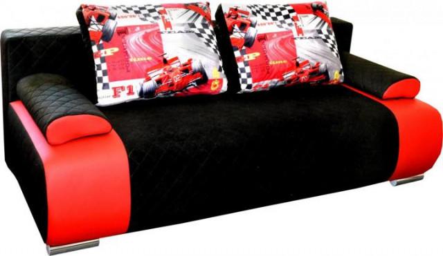 Pohovka Formule černo /červená