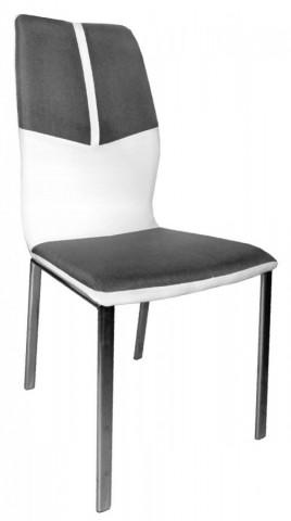 Jídelní židle F- 668 bílá/šedá