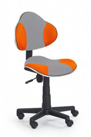 Židle QZY-G2-šedo oranžová