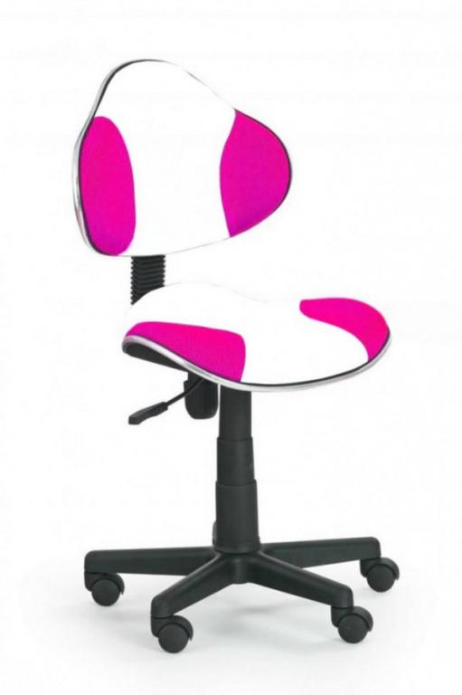 Židle OZY-G2- bílo růžová