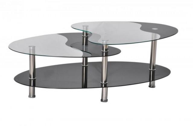 Konferenční stolek BA-5-Oval černý