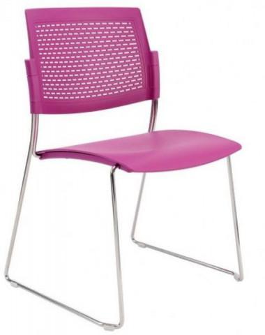 Konferenční židle Aba plastová sáně
