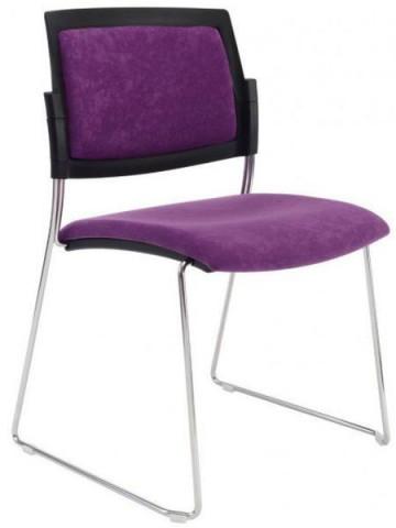 Konferenční židle Aba čalouněná sáně