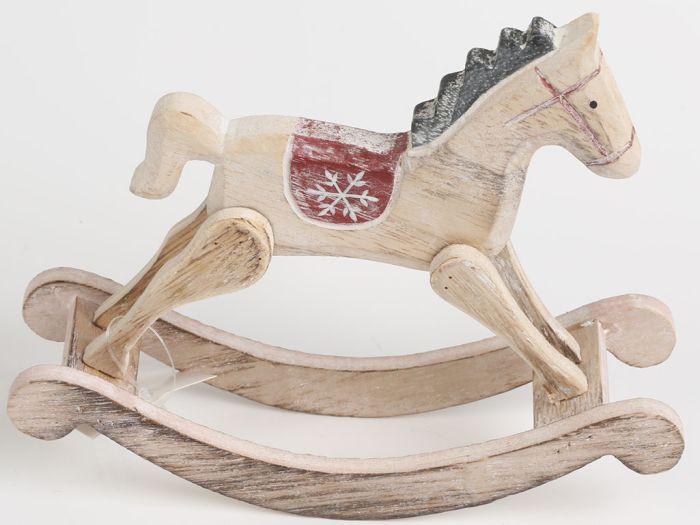 Autronic Dřevěný houpací kůň KLA218