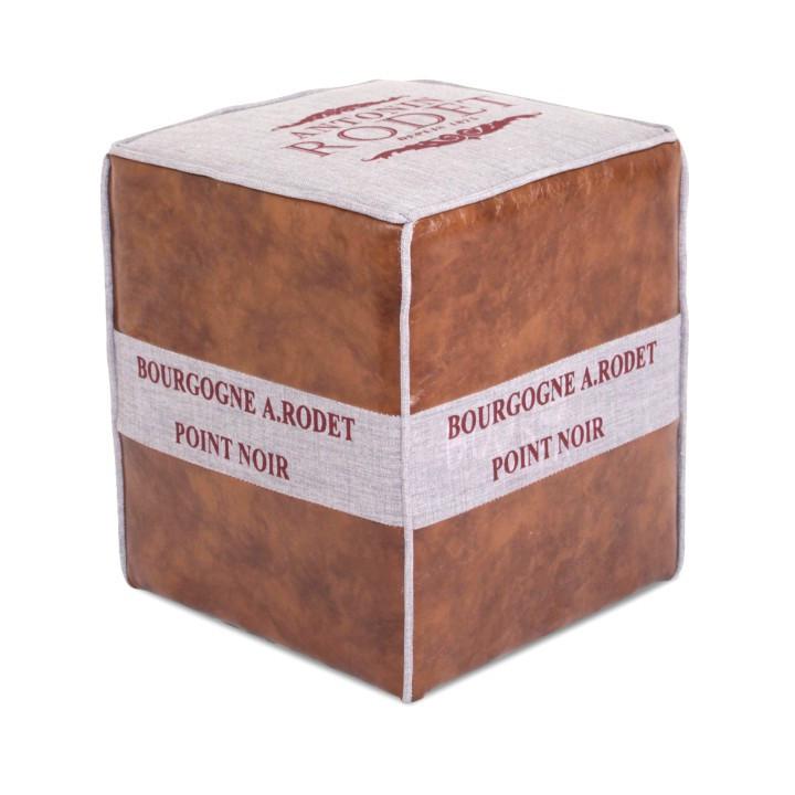 Tempo Kondela Taburetka ROMAN 2 - světle hnědá/béžová + kupón KONDELA10 na okamžitou slevu 10% (kupón uplatníte v košíku)