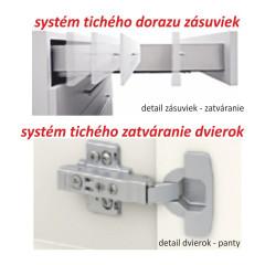 Kuchyňská skříňka LINE WHITE D80 3 ZAS