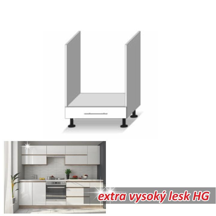 Tempo Kondela Kuchyňská skříňka LINE WHITE D60 KU + kupón KONDELA10 na okamžitou slevu 3% (kupón uplatníte v košíku)