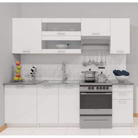 Kuchyňská linka FABIANA 2,4 m - bílá - II. jakost