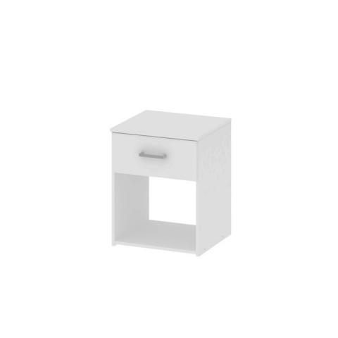 Noční stolek, bílá GARBO
