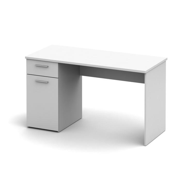 Tempo Kondela PC stůl EGON - bílý + kupón KONDELA10 na okamžitou slevu 3% (kupón uplatníte v košíku)