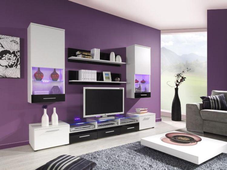 Cama Obývací stěna Cama II - bílá/černá