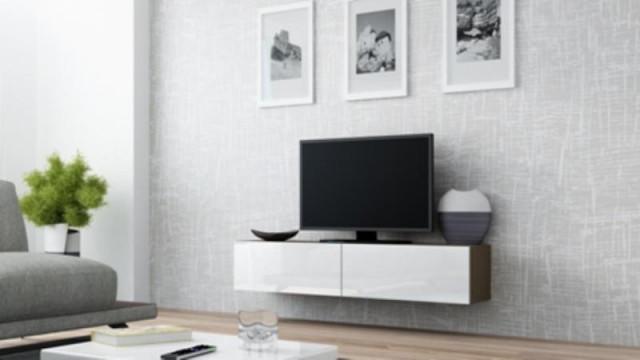 Televizní stolek VIGO 140 - latte/bílá