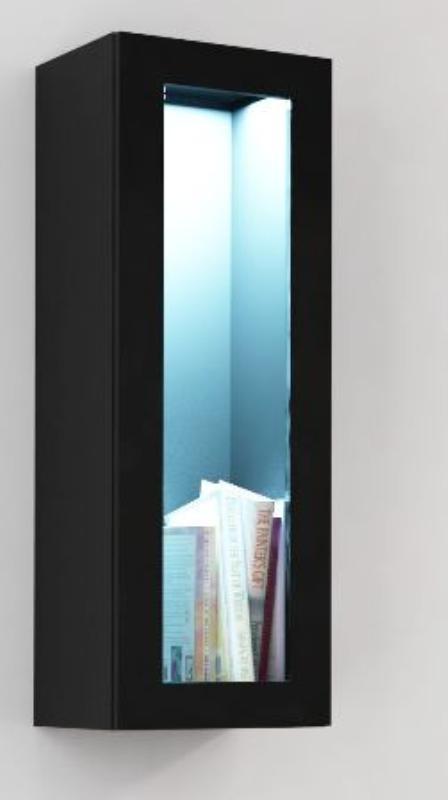 Cama Vitrína VIGO, prosklené dveře - černá