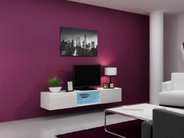 Televizní stolek VIGO Glass 180 - bílá